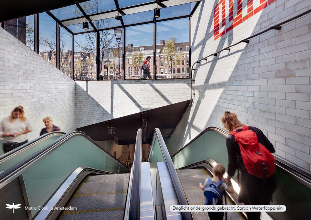 Dutch Daylight Award - Stationsrenovatie Metro Oostlijn nominatie 2020